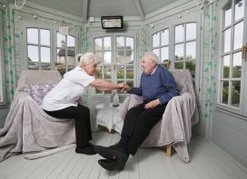one-to-one support for residents in the garden summerhouse