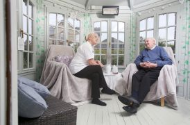 time to talk in the summerhouse