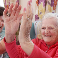 A resident enjoying one of the activities at Peregrine House