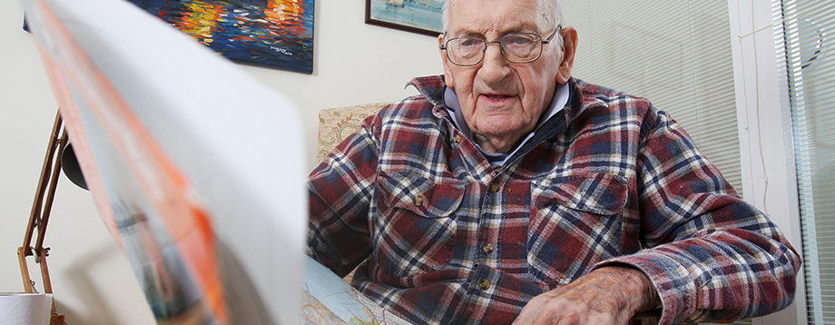 A resident looking at a map