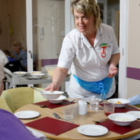Mealtime at Peregrine House