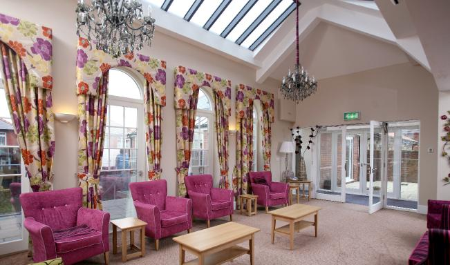 The new lounge at Peregrine House