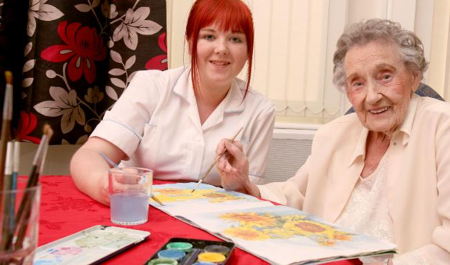 painting activity at Peregrine House