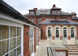 The terrace at Peregrine House